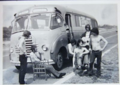 Riot Squad van, with band, (post David Bowie)