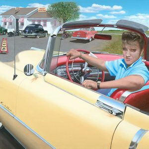Elvis & his 1954 Cadillac - Chris Osborne
