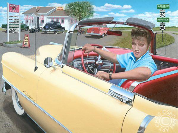 Elvis & his 1954 Cadillac - Chris Osborne