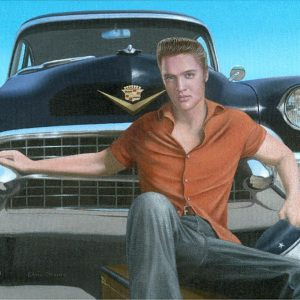 Elvis & his 1955 Limo - Chris Osbourne