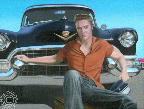 Elvis & his 1955 Limo - Chris Osbourne