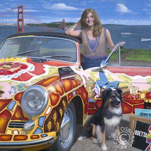 Janis Joplin & her 1965 Porsche - Chris Osborne